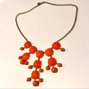 Orange J.Crew Bubble Necklace